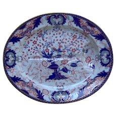 Crown Derby Large Platter King's Pattern