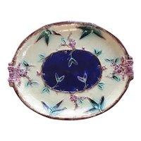A Victorian Majolica Oval Platter