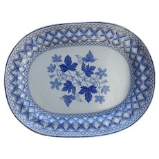 An Enormous Spode Blue and White Platter Jasmine pattern