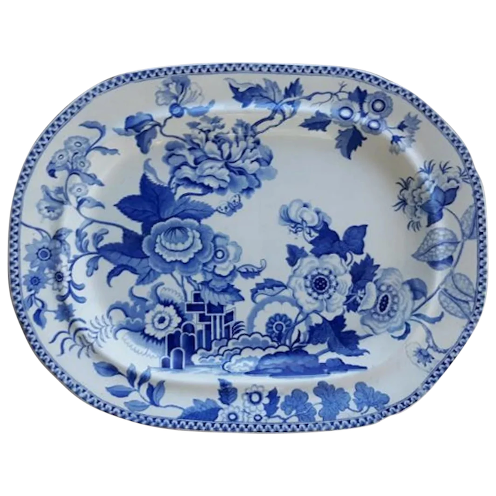 A Brameld Blue And White Ironstone
