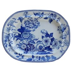 A Brameld Blue and White Ironstone Platter, India Flowers Pattern