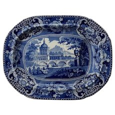 Blue and white Transfer Printed Platter, Early 19th Century