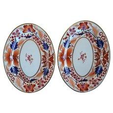 Pair of Coalport Imari Style Decorated Platters
