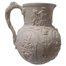 Drabware William Brownfield Albion Relief Molded Stoneware Jug