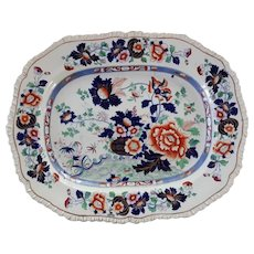 "A Hicks & Meigh 'Stone China' 17"" Platter, Pattern 53"