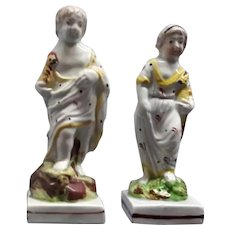 A Pair of Pearlware Figures
