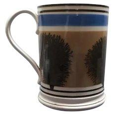 A Bristol Mocha Ware  Cylindrical Quart Mug