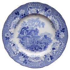 """A Blue Transfer Printed Dinner Plate, """"Verona"""""""