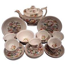 """A Hilditch Porcelain Part Tea Set """"Lady with Lyre"""" Pattern"""