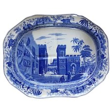 A Spode Blue and White Transfer Printed Platter, Caramanian Series