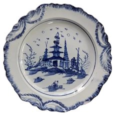 A Staffordshire Blue and White Pearlware Plate