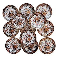 "A set of twelve Crown Derby Dinner Plates ""King's Pattern"""