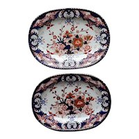 Pair of Derby King's Pattern Platters circa 1810