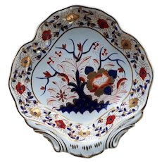 Derby Shell-Shaped Serving Dish, Tree of Life Pattern,