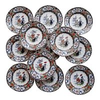 """Twelve """"Improved Stone China"""" Plates by Minton """"Japanese"""" pattern """""""