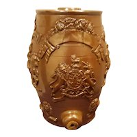 A Saltglazed Stoneware Spirit Barrel