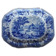 Transfer Printed Rogers Views Series Blue and White Platter