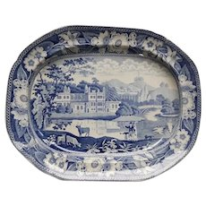 A Staffordshire Blue and White Transfer Printed Platter.