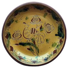 A Slip Decorated Redware Charger