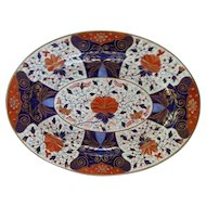 A Large Derby Imari Type Oval Platter