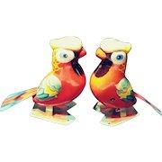 1960s Twin Tin Parrots.