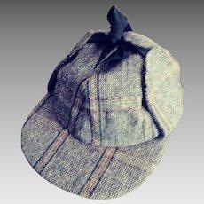 A Genuine Scottish Deer Stalker Hat - 1960s.  Halloween Is Coming.