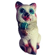 Carnival Prize Chalkware Kitty.  He's a Bank!