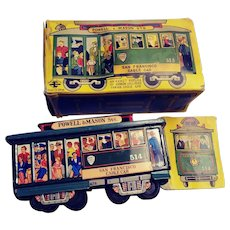 Vintage  F E Walts  San Francisco Cable Trolley Car #514- Japan