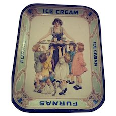 Old Furnas Ice Cream Metal Serving Tray