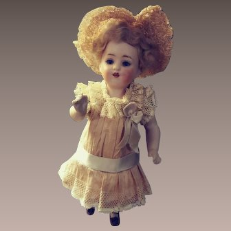 Kestner Character All Bisque Doll.  Marked 150 Over 9