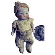 Vintage Tiny All-Bisque Baby Doll