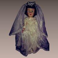 """Mid 20th Century Vinyl Bride Doll-9"""" Tall"""