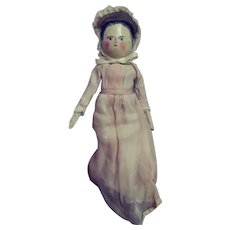 """Penny Wooden or Peg Wooden Doll - 12"""" Tall"""