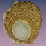 Artist Made Straw Bonnet