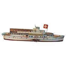 Tin Litho Ship--1960s or 70s