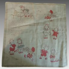 Little Child's Handkerchief from the 1930s.