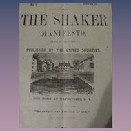 11th Volume of 'The Shaker Manifesto' - 1878