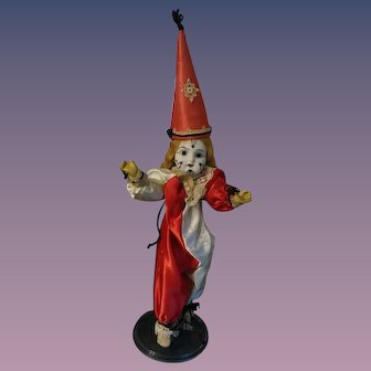 """Little French Clown - Possibly SFBJ - 10"""" Tall."""