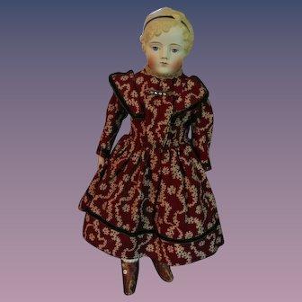 "Beautiful Parian Child - Original Clothing - 17"" Tall"