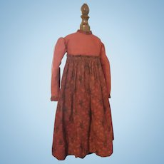 Gorgeous Antique Doll Dress - Hand & Machine Made