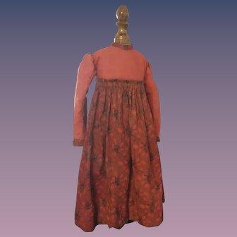 Gorgeous Antique Doll Dress - Hand & Machine Made