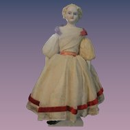 "Charming Parian Lady - 9.5"" tall.  All Original"