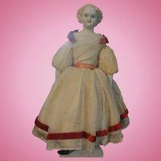"Charming Parian Lady - 9.5"" tall.  All Original"