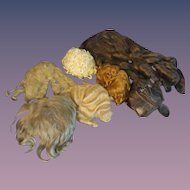 Seven Wigs for Seven Dolls - Various Sizes