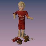 """ABG Parian Boy with Golden Curls - 15"""" Tall.  All Original."""