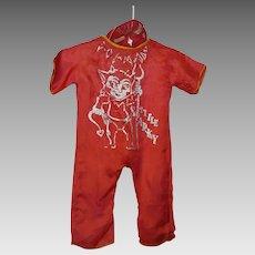 Toddler's Vintage Halloween Costume - 'Lil Sparky'
