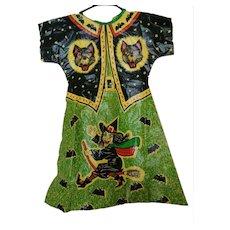 1960s Vintage Vinyl Witch Costume - Great Graphics.