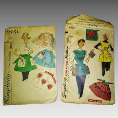 1950s Apron Patterns - Complete