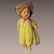 Pristine Composition Doll With Her Box--late 1940s or early 1950s.