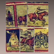 Western Themed Ink Stamps-1920s